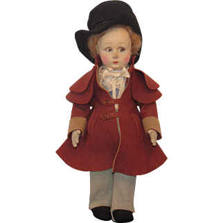 """Extremely Rare, Vintage Lenci VHTF """"David Copperfield Doll"""" In Original Felt Outfit 13"""""""