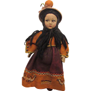 Vintage Wonderful Lenci Cloth Doll With Original Outfit 14""