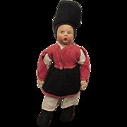 """Vintage Lenci Mascot Cloth Doll Original Felt Outfit 9"""" Circa 1930's"""