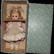 "Vintage Madame Alexander Beautiful ""Alexander Kins"" In Original Box & Tagged Dress 8"" Circa 1955"