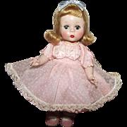 "Vintage Madame Alexander Beautiful ""Alexander Kins"" In Original Tagged Dress 8"" Circa 1954"