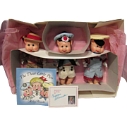 """Adorable MIB Madame Alexander Resin """"Three Little Pigs"""" With book 11"""""""