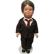 Extremely Rare & VHTF Madame Alexander Dionne Quintuplets Minister W/ Dr. DaFoe Face Mold, In Original Tagged Suit Circa 1935