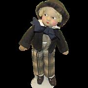 "Vintage Madame Alexander Rare Cloth ""David Copperfield Doll"" 16"" Circa 1930's"