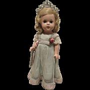 "Vintage Madame Alexander ""Princess Elizabeth Doll"" In Original Tagged Dress and Original Wrist Tag 13"" Circa 1937"
