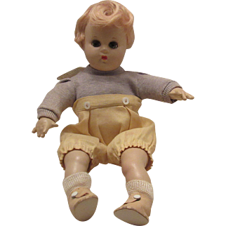 """Vintage Madame Alexander Composition & Cloth """"Butch"""" Doll In Tagged Outfit 11"""" Circa 1940's"""
