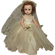 "Vintage Madame Alexander Beautiful ""Lissy Doll"" In Original Tagged Wedding Gown 11 1/2"""
