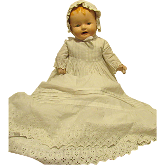 """Adorable Vintage Large Composition & Cloth Mama Baby Doll 30"""" Tall"""