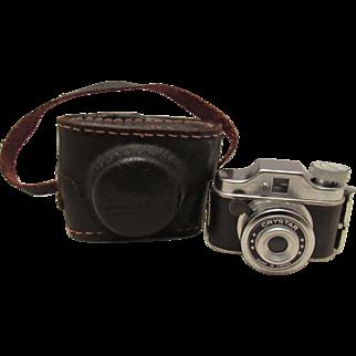 Wonderful Vintage Miniature Doll Camera In Original Case