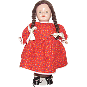 "Adorable Vintage Large Composition & Cloth Mama Doll 17"" Tall"