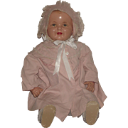"Beautiful Vintage Very Large 28"" ""Mama Baby Doll"" Circa 1930's"