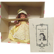 """Vintage Nancy Ann Storybook Doll """"Saturday's Child Must Work For A Living"""" #185"""" In Original Box"""