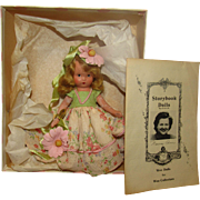 """Vintage Nancy Ann Storybook Doll """"Little Bo Peep Has Lost Her Sheep #153"""" In Original Box and Wrist Tag"""