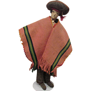 Unique Vintage Early Cloth Mexican Primitive Folk Art Character Doll