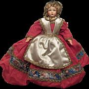 "Wonderful Vintage Paper Mache & Cloth Doll 10"""