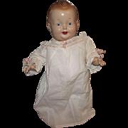 "Vintage RALPH A. FREUNDLICH rare composition doll ""BABY SANDY"" 15"" Circa 1939"