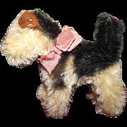 "Steiff Vintage Miniature ""Fox Terrier"" 4"" Circa 1950's"