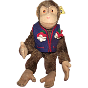 "Steiff Vintage Adorable Small ""Chimp"" Jocko 6"" Circa 1950's"