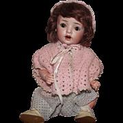 "Wonderful Vintage German Bisque Hannah Character Baby 13"" Circa 1920"