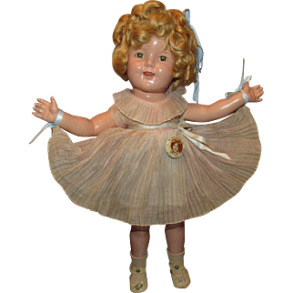 "Vintage Ideal Beautiful ""SHIRLEY TEMPLE DOLL"" In Original Outfit 18"" Circa 1934"