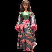 Gorgeous Vintage TNT Chocolate Bon Bon Barbie #1160 Wearing Rainbow Wraps #1798