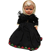 Wonderful Vintage Celluloid Doll In Original Outfit