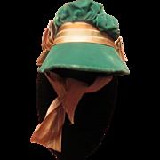 Beautiful Antique Velvet Doll Bonnet