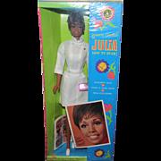 Mint & NRFB Vintage Gorgeous Julia  Barbie #1127 In Original Box, Wrist Tag & Original Outfit