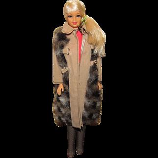 Gorgeous Vintage TNT Stacey Barbie #1165 Wearing Suede N' Fur #3491