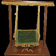 Wonderful Vintage Wooden Swing For Miniature Dolls
