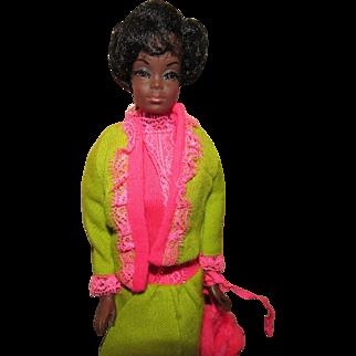 Gorgeous Vintage Talking Julia Barbie #1128 with Rare Black hair