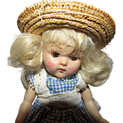"""Gorgeous Vintage Ginny Vogue Doll 8"""" circa 1950's In tagged outfit"""