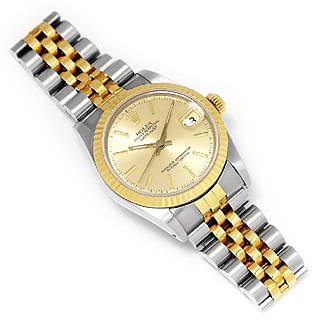 Ladies Rolex Datejust Midsize Two Tone Jubilee Champagne 68273 '89 31MM