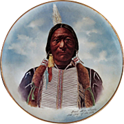 """Limoges H.P. 14"""" Native American Plaque """"Buck Skin Charlie, Sub. Chief of the Utes"""""""