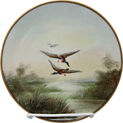 "C.F. Koenig Studio H.P. Ducks in Flight Plate- signed ""KOENIG"""