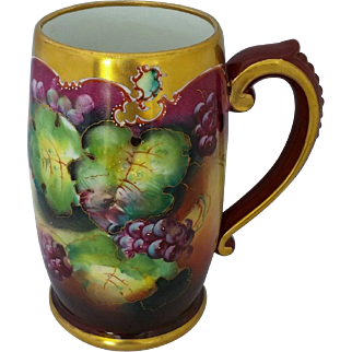 "Pickard H.P. Mug with Purple Grapes by ""Seidel"""