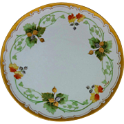 "J.H. Stouffer Company 8 ½"" Acorns and Leaves Cake Plate by artist Samuel Heap"