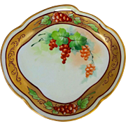 Pickard H.P. Currants In Gold Oval Dish by artist Joseph Yeschek