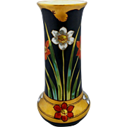 """Pickard H.P. White and Red Jonquils Vase- signed """"N.R. Gifford"""""""