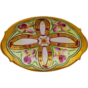 "Pitkin & Brooks H.P. Iris Conventional Variation Dish- signed ""Imlay"""