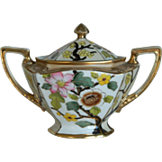 Vintage Noritake Morimura Covered Sugar Bowl and Creamer Set