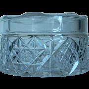 EAPG Clear Glass Vanity Jar