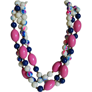 Hattie Carnegie Multistrand Necklace/Choker