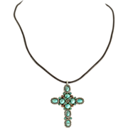 Graziano Turquoise Cross - Red Tag Sale Item