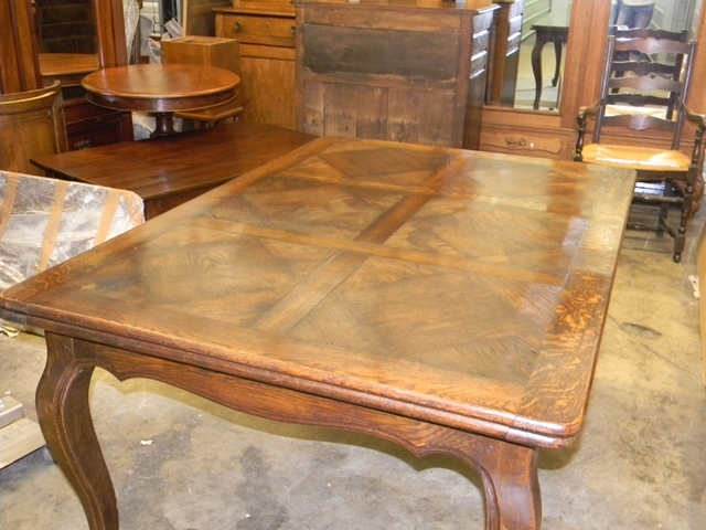 Roll over Large image to magnify  click Large image to zoom. Antique French Provincial Dining Table with Leaves from