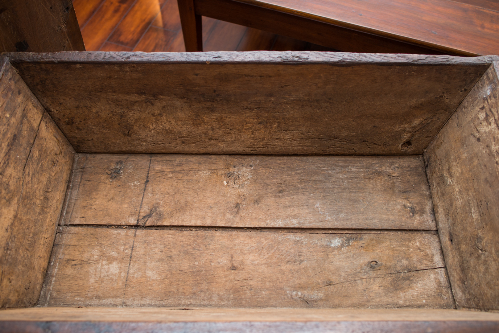 17th C Louis Xiii Petrin Chest France Oak Pegged From