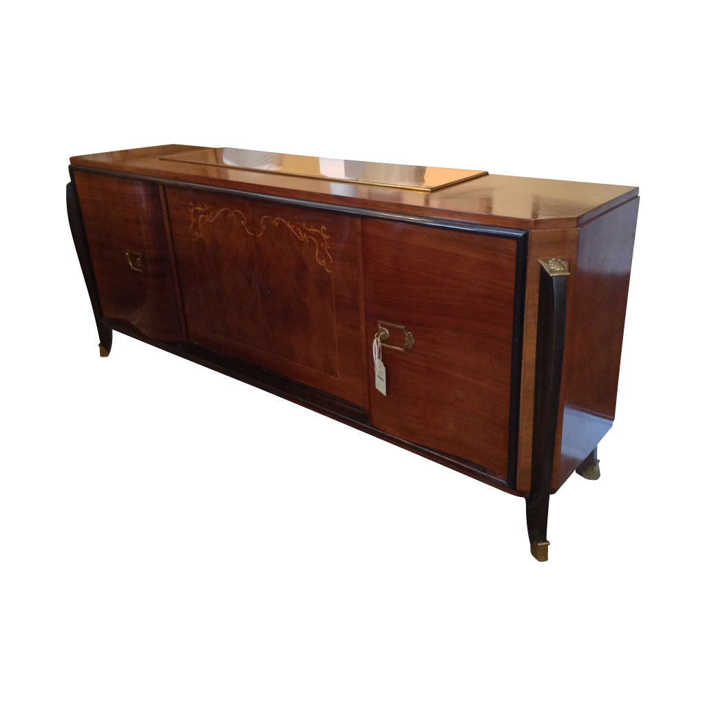 french art deco mahogany sideboard from. Black Bedroom Furniture Sets. Home Design Ideas