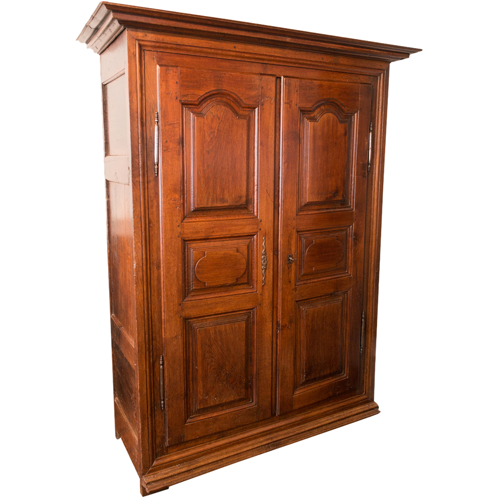 louis xiv armoire 18th c white oak france from. Black Bedroom Furniture Sets. Home Design Ideas