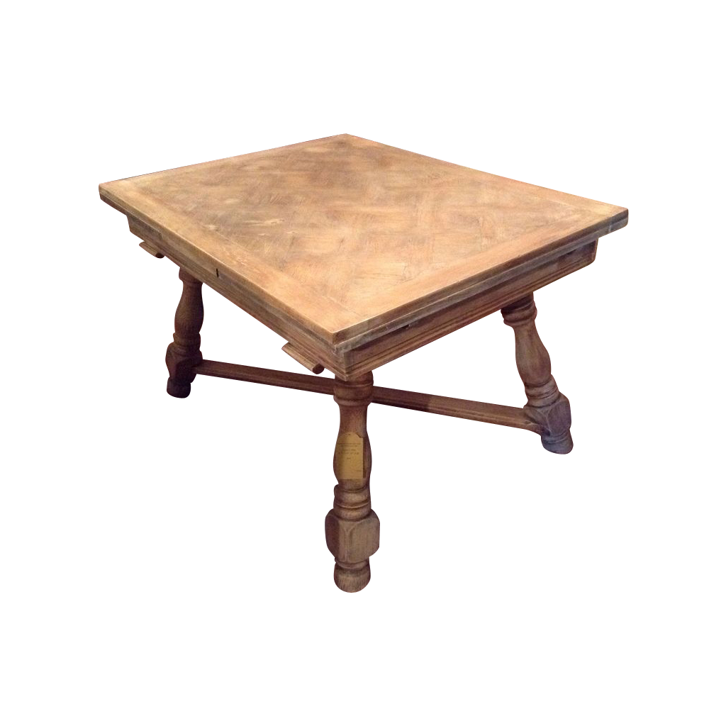 French Provincial Dining Parquet Table Limed France C. 1920 : Maison Décor    French Antiques | Ruby Lane