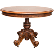 19th Century Oval Table Louis Philippe Normandy France